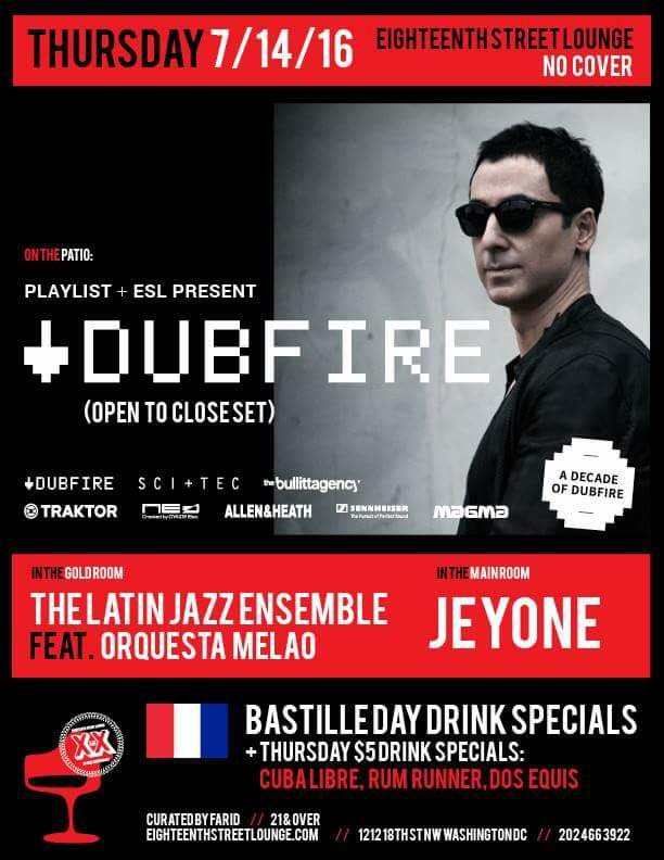 Playlist presents Dubfire at Eighteenth Street Lounge