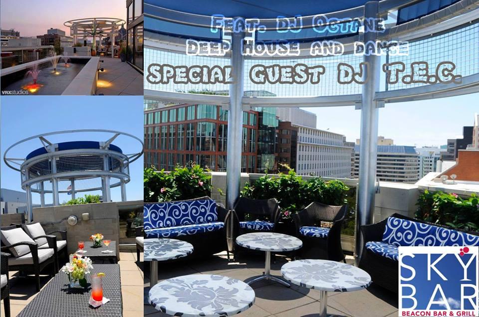 Drinks, Beats and Eats w/ DJ Octane & DJ TEC at Sky Bar Rooftop