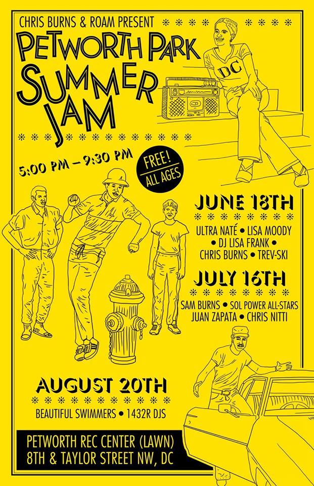 Petworth Park Summer Jam Part II with Sam Burns, Sol Power All Stars, Juan Zapata and Chris Nitti at Petworth Rec Center