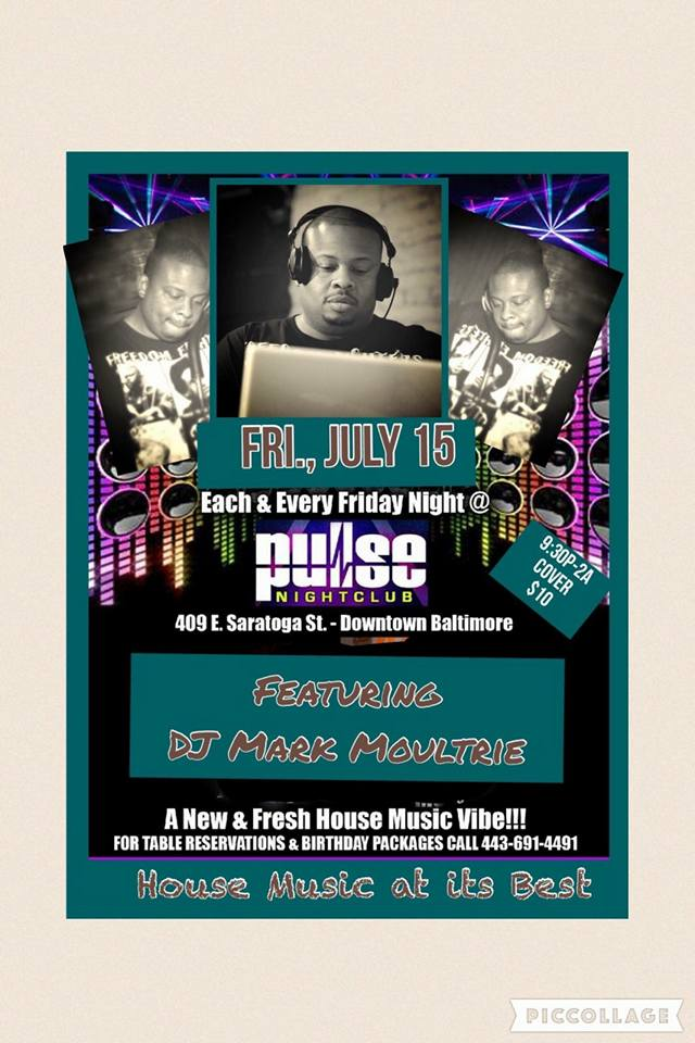 Pulse Fridays with special guest DJ Mark Moultrie at Pulse Nightclub, Baltimore