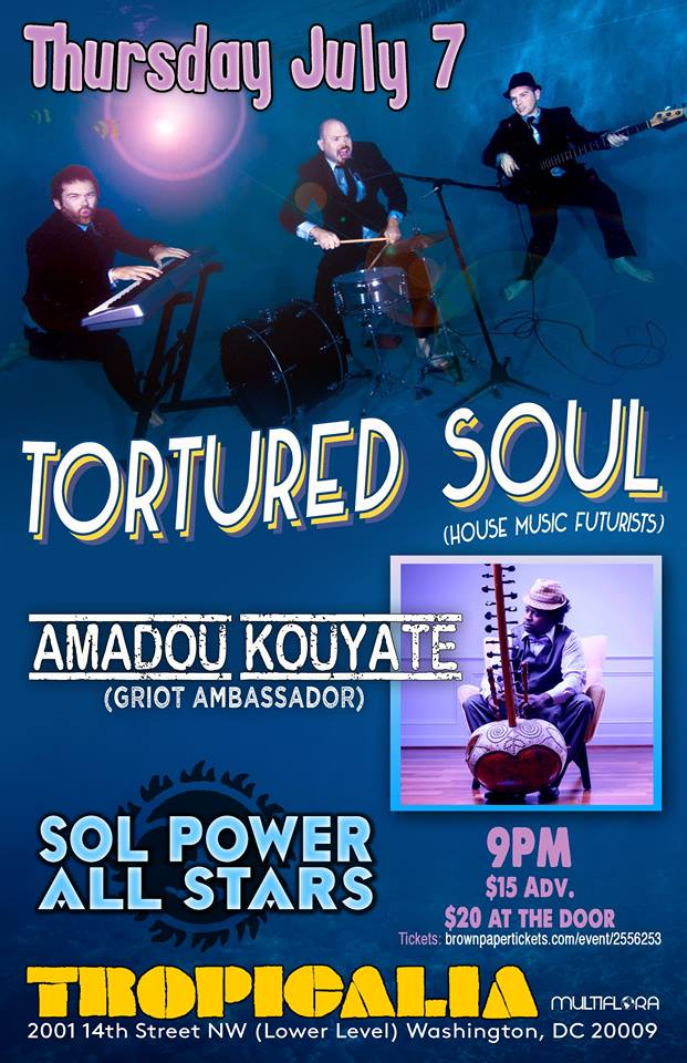 Tortured Soul, Amadou Kouyate and Sol Power All Stars at Tropicalia