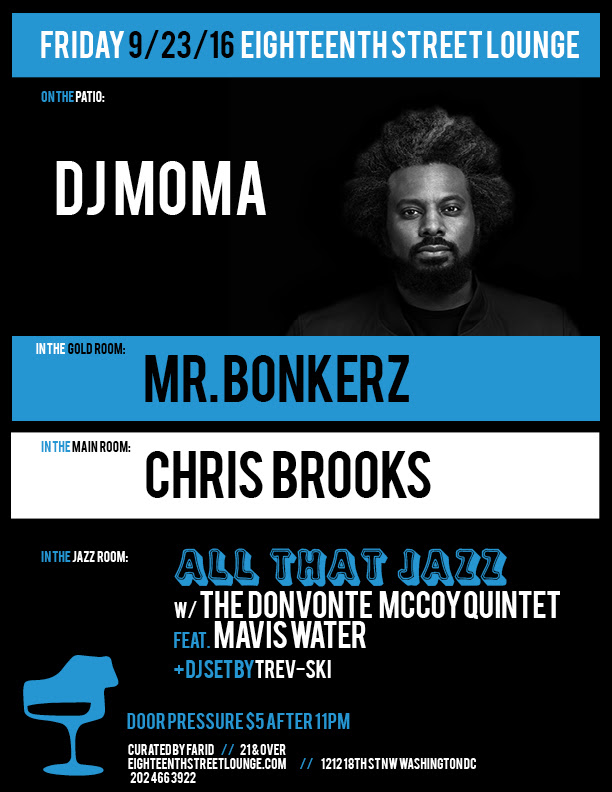 ESL Friday with DJMoma, Mr Bonkerz, Chris Brooks & Trev-ski at Eighteenth Street Lounge