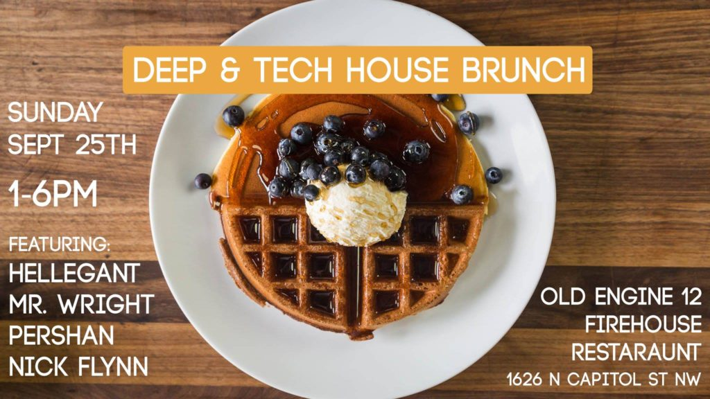Deep and Tech House Brunch with Hellegant, Mr Wright, Persian and Nick Flynn at Old Engine 12 Firehouse Restaurant