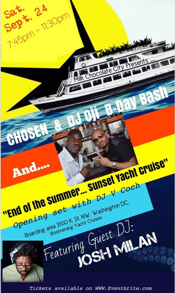 End of the Summer Yacht Cruise with Josh Milan, Dj Oji & V-Coch