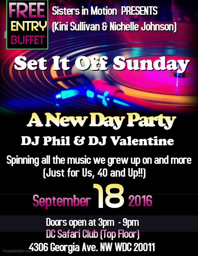 Set it off Sunday with DJ Phil and DJ Valentine at DC Safari Club