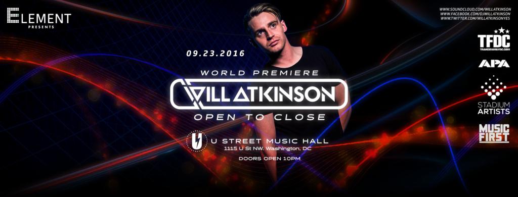 Will Atkinson Open to Close at U Street Music Hall
