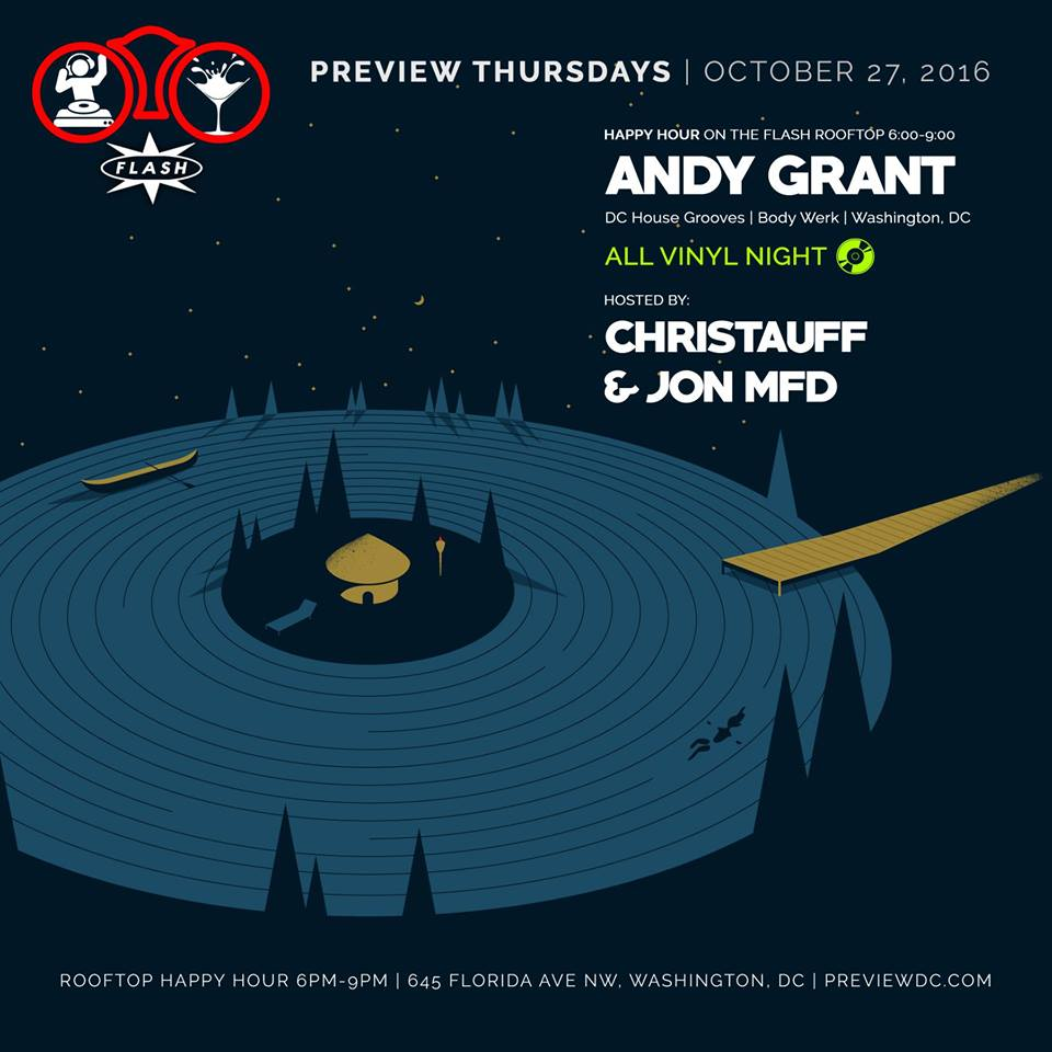 Preview Rooftop Happy Hour with Andy Grant (Vinyl Night) at Flash