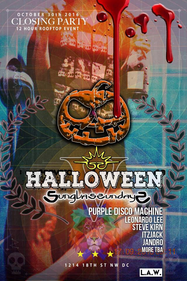 Sunglass Sundays V Halloween Finale featuring Purple Disco Machine at Public Bar