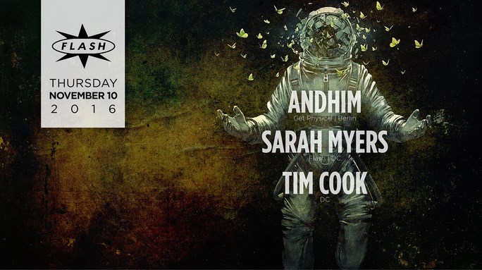 Andhim with Sarah Myers and Tim Cook at Flash