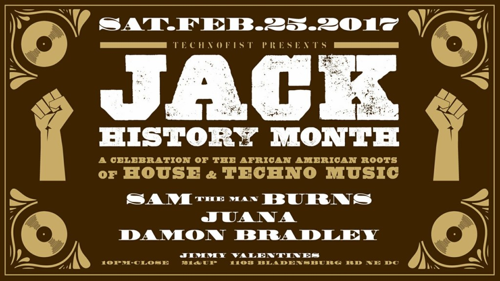 "Technofist Presents: Jack History Month with Damon Bradley, Juana & Sam ""The Man"" Burns at Jimmy Valentine's Lonely Hearts Club *** TOP PICK ***"