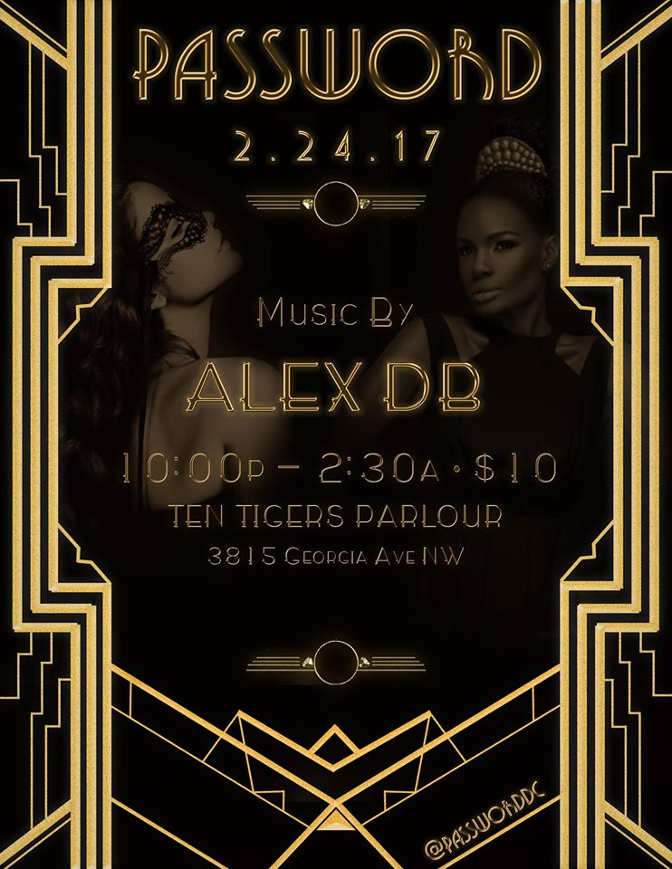 Password with Alex DB at Ten Tigers Parlour