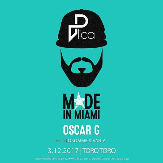 Oscar G (Made In Miami) with Dromme & Vania at Toro Toro DC