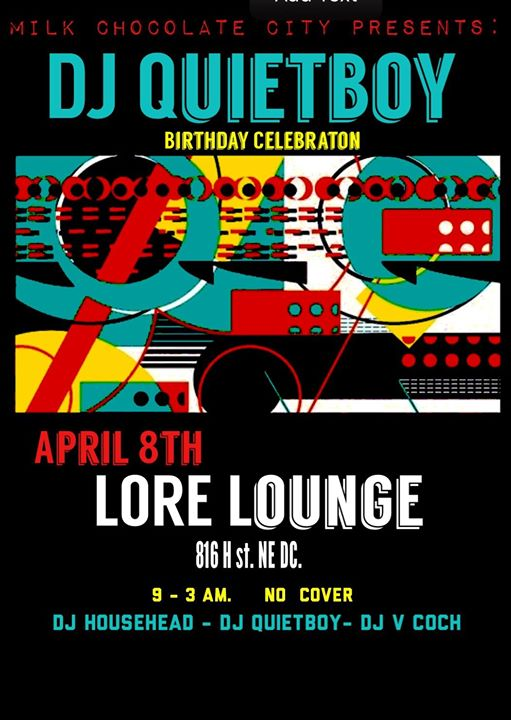 DJ Quietboy Bday Celebration with DJ Househead, DJ Quietboy & V-Coch at Mythology Restaurant & Lounge