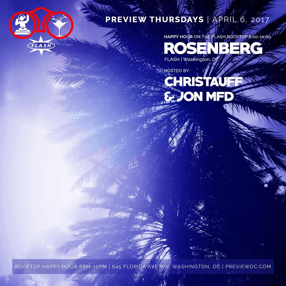 Preview Rooftop Happy Hour with Rosenberg at Flash