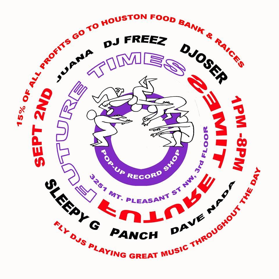 Future Times Record Shop DJs Hurricane Harvey HELP! at 3251 Mt Pleasant St NW
