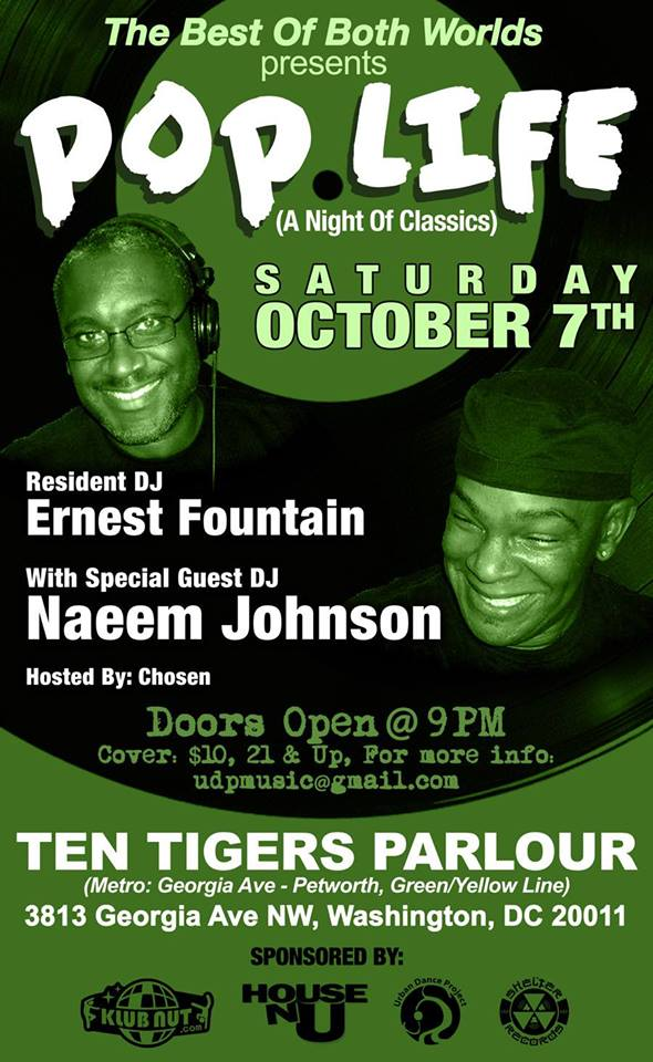 Pop Life - A Night of Classics with Ernest Fountain & Naeem Johnson at Ten Tigers Parlour