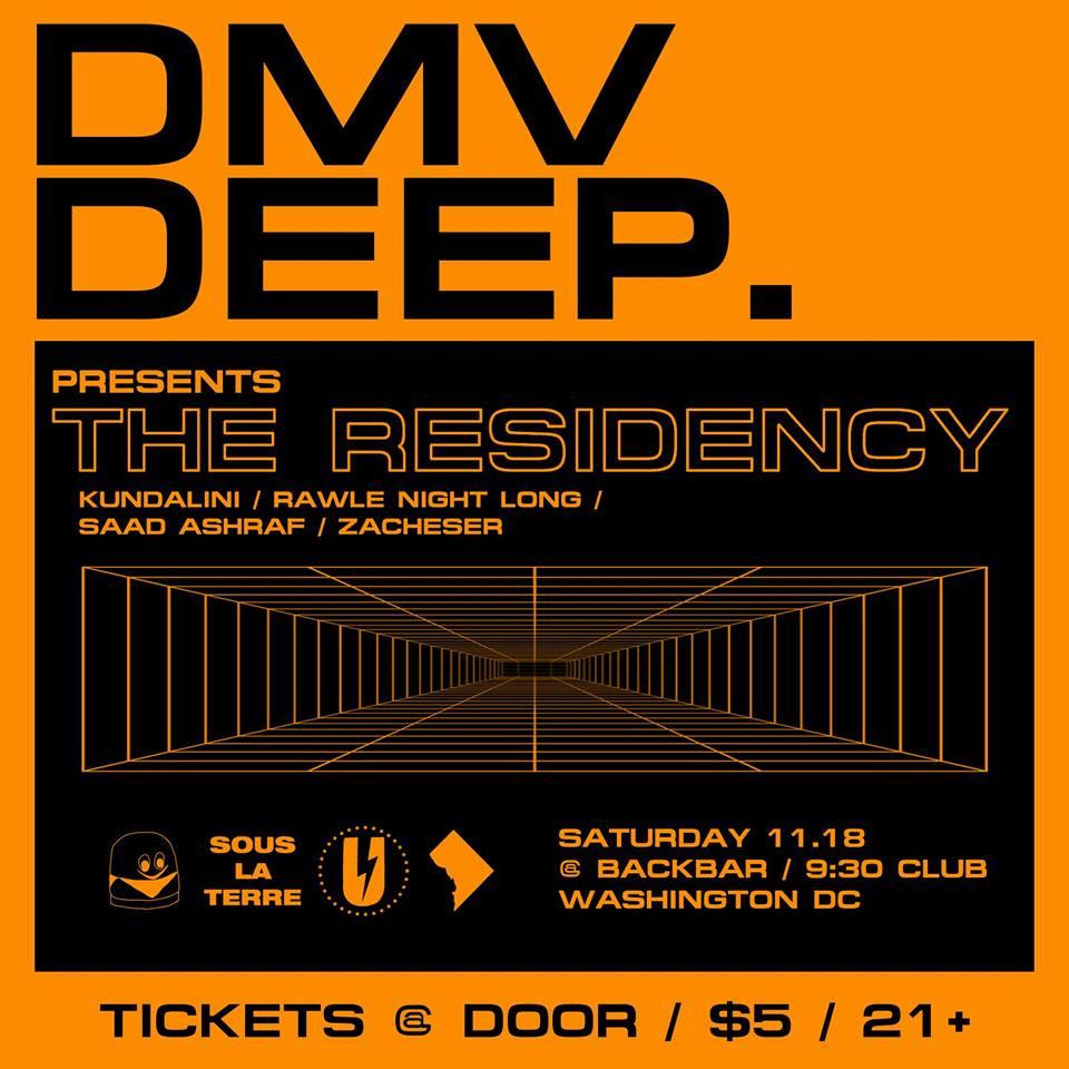 DMV Deep presents The Residency at Backbar