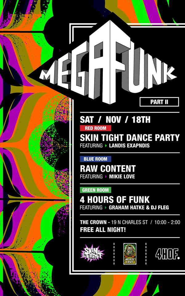 Mega Funk II at The Crown, Baltimore
