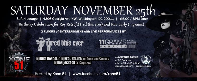 Red This Ever, 11 Grams, DJ Kangal, Ron Jackson and The Angel at Safari Restaurant & Lounge