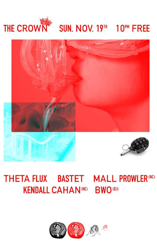 Theta Flux, Bastet, Mall Prowler, Kendall Cahan & BWO at The Crown, Baltimore