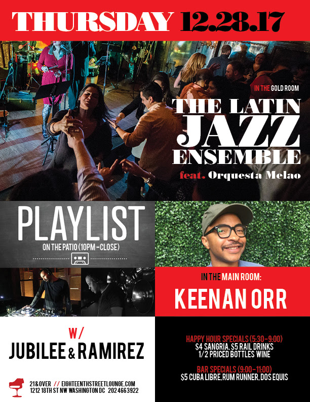 ESL Thursday with Keenan Orr & Playlist with Jubilee & Ramirez at Eighteenth Street Lounge