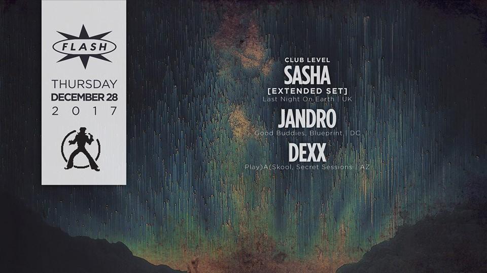 Sasha with Jandro & Dexx at Flash