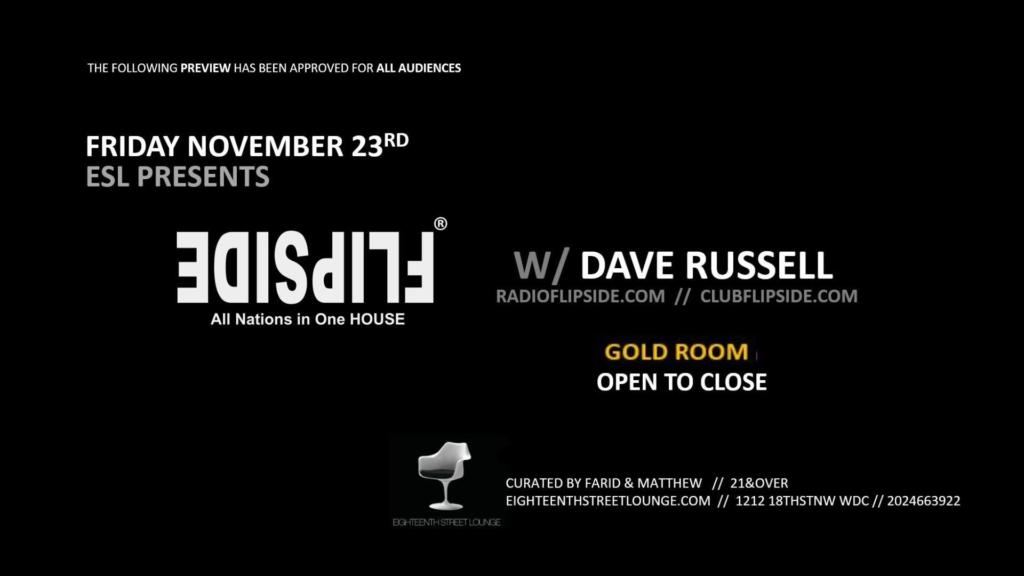 flipside with dave russell at ESL