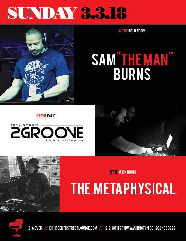 ESL Sunday with Sam Burns, 2 groove and The Metaphysical