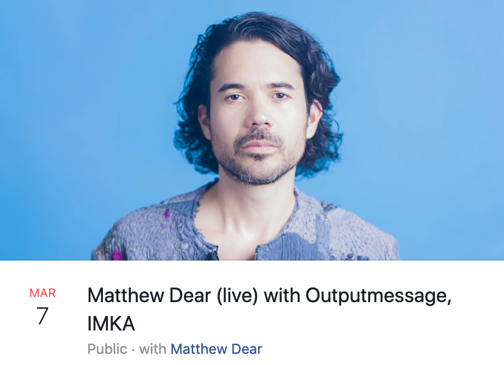Matthew Dear at U Street Music Hall