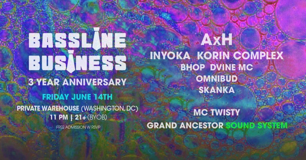 bassline business 3 year anniversary