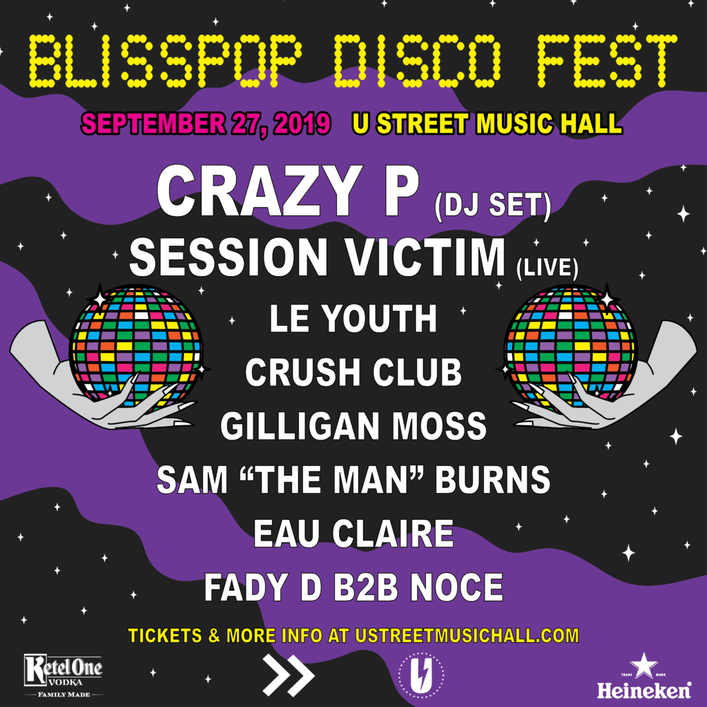 Blisspop Disco Fest with Crazy P with Session Victim