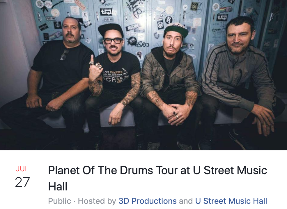 Planet of drums tour at u street music hall
