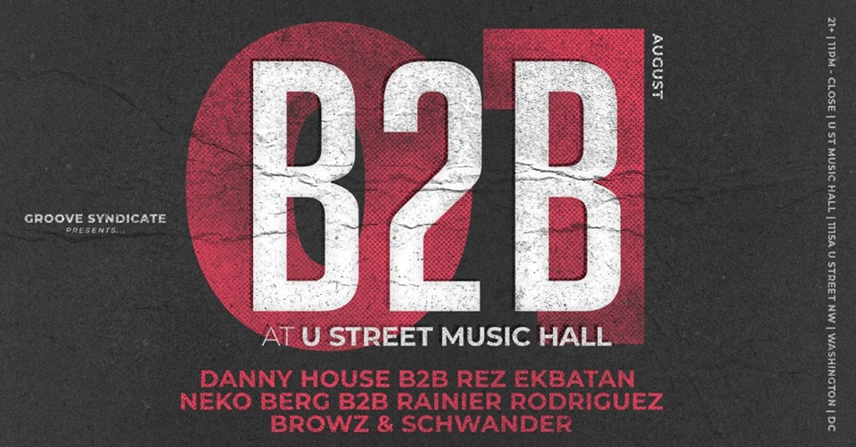 b2b at u street music hall