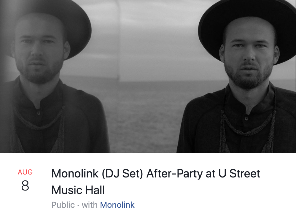 Monolink at U Street Music Hall