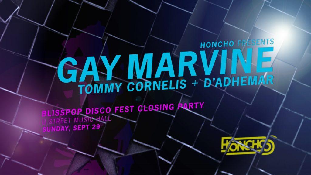 blisspop disco fest gay marvine