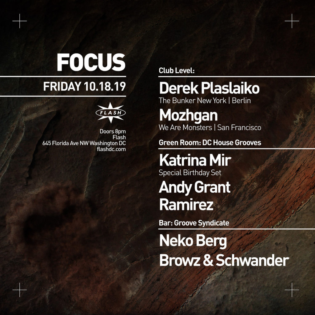 Focus at Flash with Derek Plaslaiko and DC House Grooves