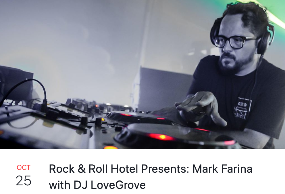Mark Farina at Rock and Roll Hotel