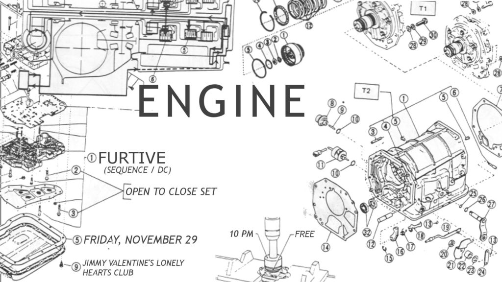 engine furtive open to close at jimmys