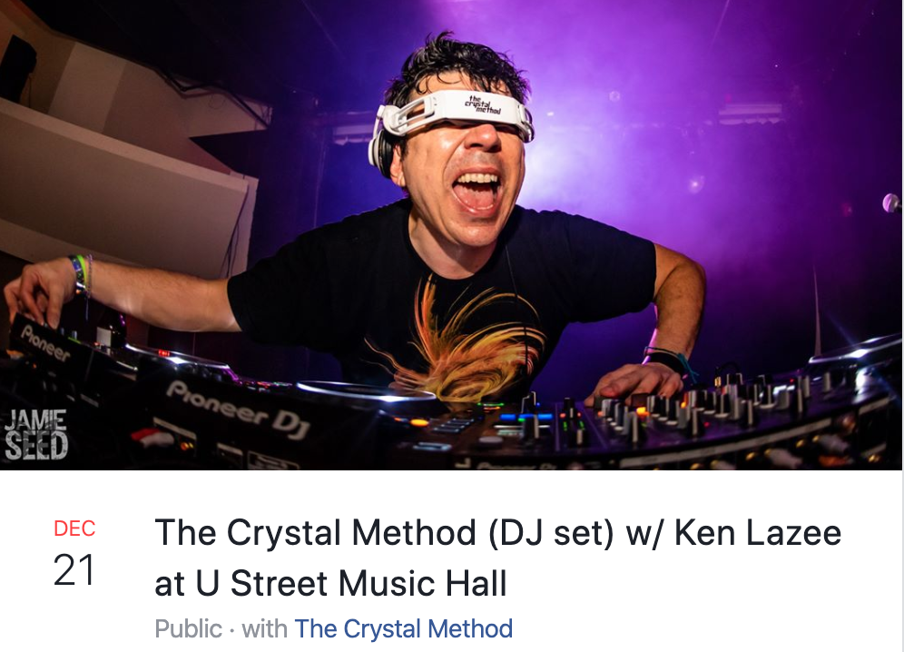 Crystal method at u street music hall 12-20