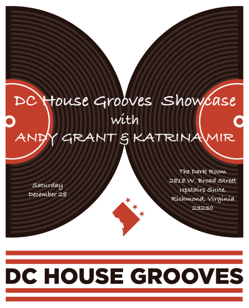 DC House grooves Show Case Dark Room Richmond